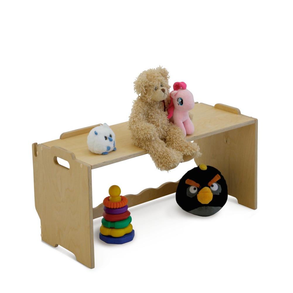Стеллаж скамейка для игрушек
