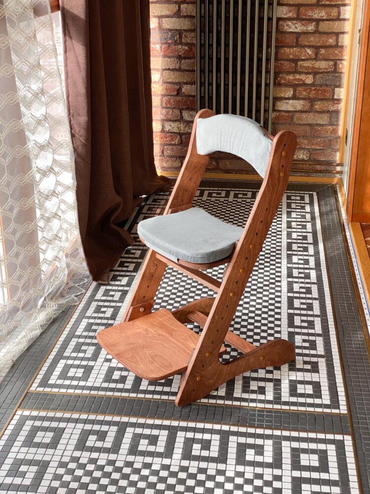 Растущий стул для детей «Компаньон» с покрытием и комплектом подушек