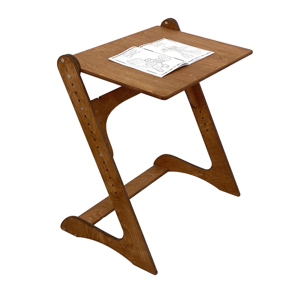 Комплект, парта и растущий стул, премиум, светлый орех