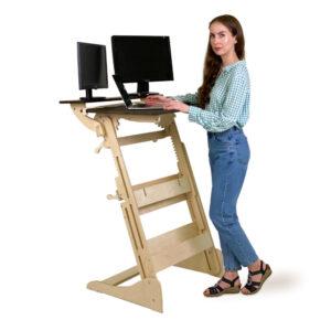 """Высокий стол """"Эврика"""" для работы и учебы стоя, на рост 120-190 см"""