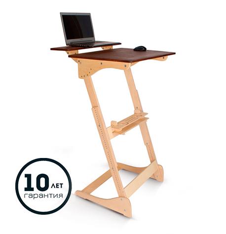 Высокий стол «Добрыня» для работы и учебы стоя с механической регулировкой (под рост 150-190 см)
