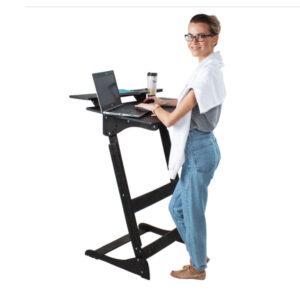 """Стол для работы стоя """"Добрыня"""" на рост 150-190 см, премиум, черный венге"""