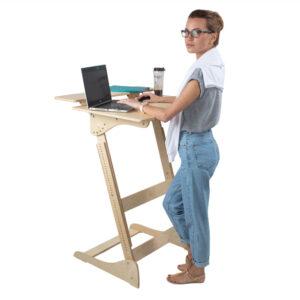 """Высокий стол """"Добрыня"""" без шлифовки, под покраску, на рост 150-190 см"""