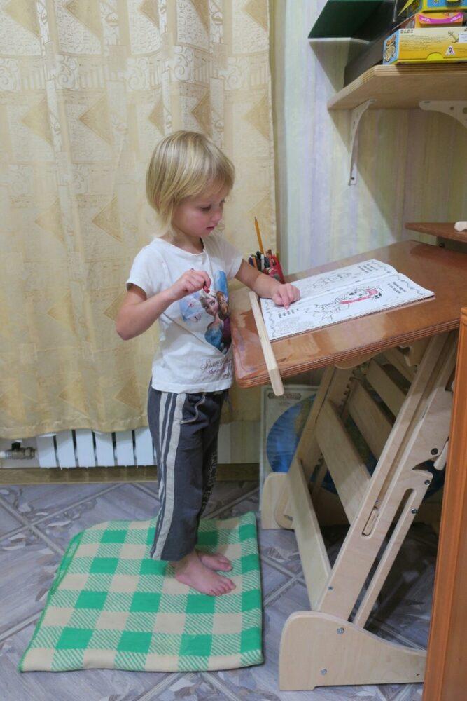 Стол для учебы стоя с регулировкой высоты и наклона столешницы на рост 90-160 см