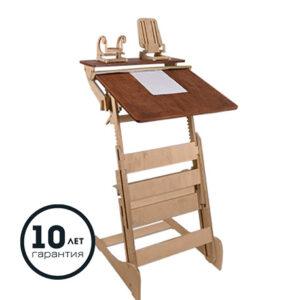 Высокий стол «Гармония» для учебы стоя с автоматической регулировкой (рост 90-170 см)
