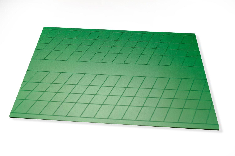 Двухсторонняя доска для прописей зеленая