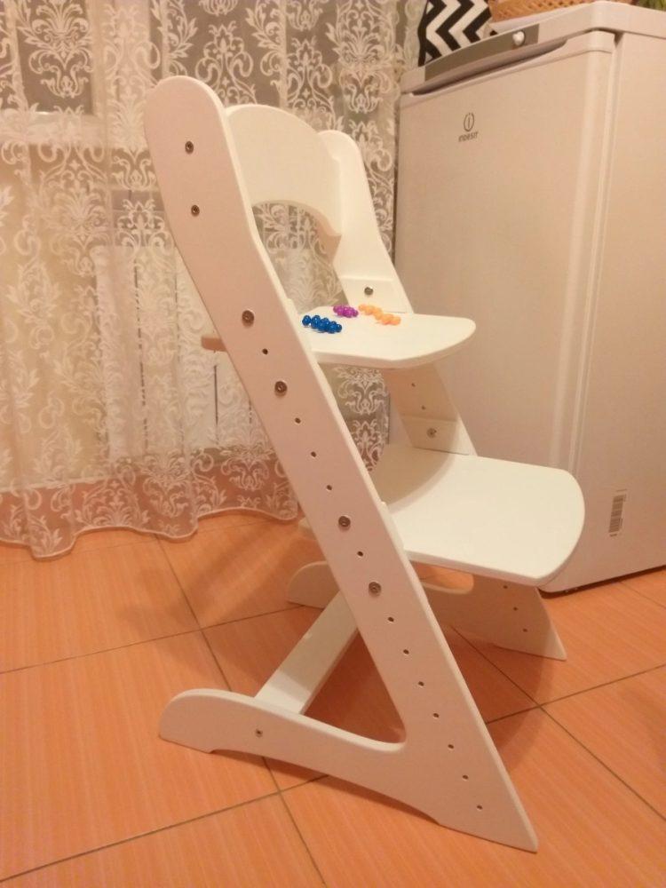 Растущий стул для детей «Компаньон» белый