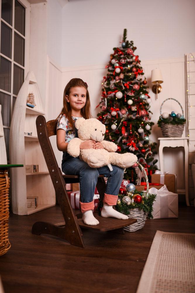 Растущий стул для детей «Компаньон» темный орех