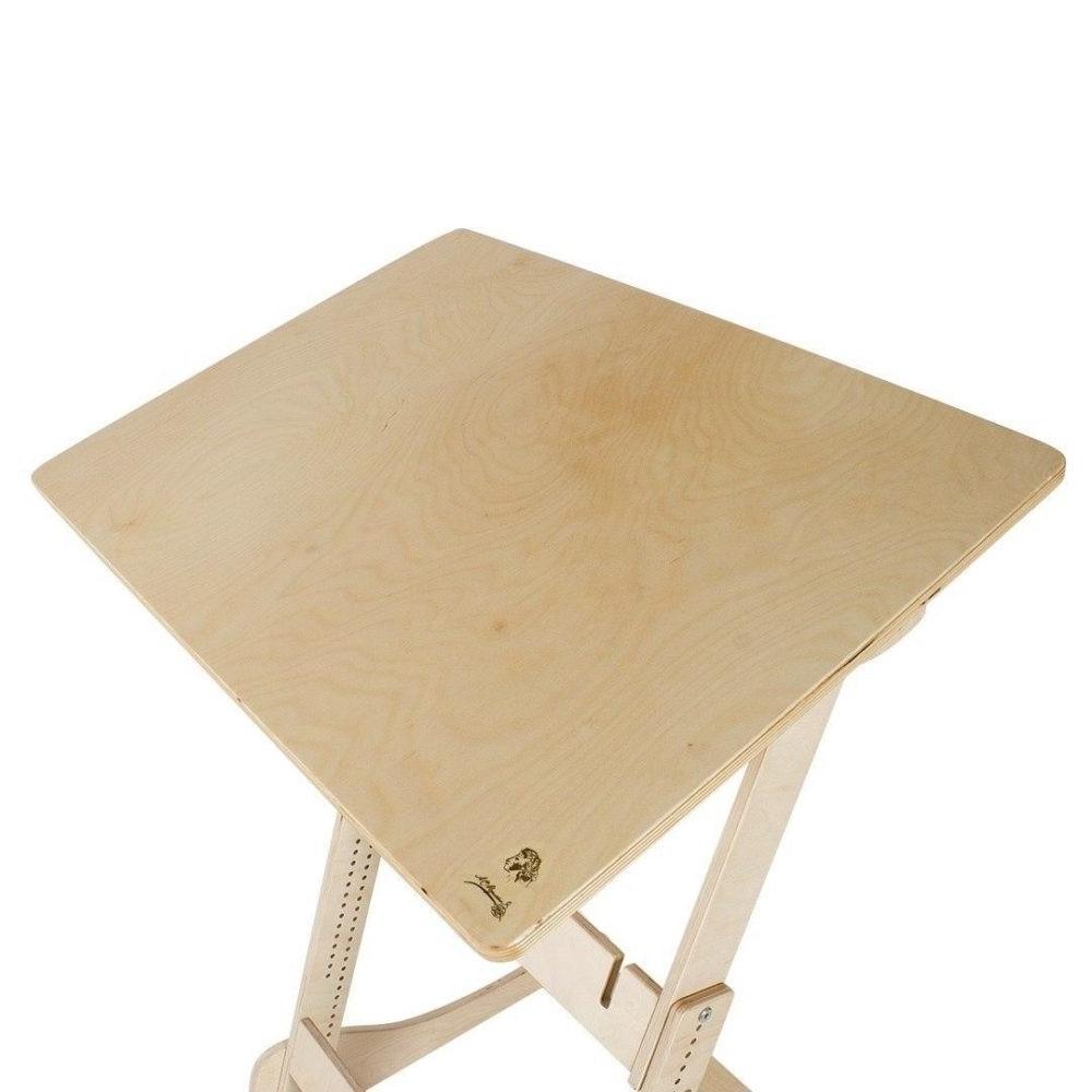 Высокий стол «Ладная от Пушкина» для учебы стоя с механической регулировкой (под рост 100-160 см)