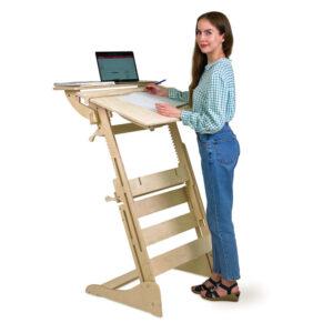 Письменный стол для работы стоя с регулировкой высоты и наклона столешницы на рост 120-190 см