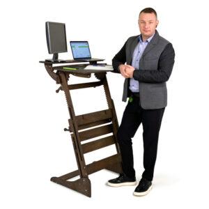 """Стол для работы стоя """"Эврика"""" на рост 120-190 см, премиум, темный орех"""