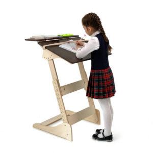 Стол для учебы стоя с регулировкой высоты и наклона столешницы на рост 100-160 см