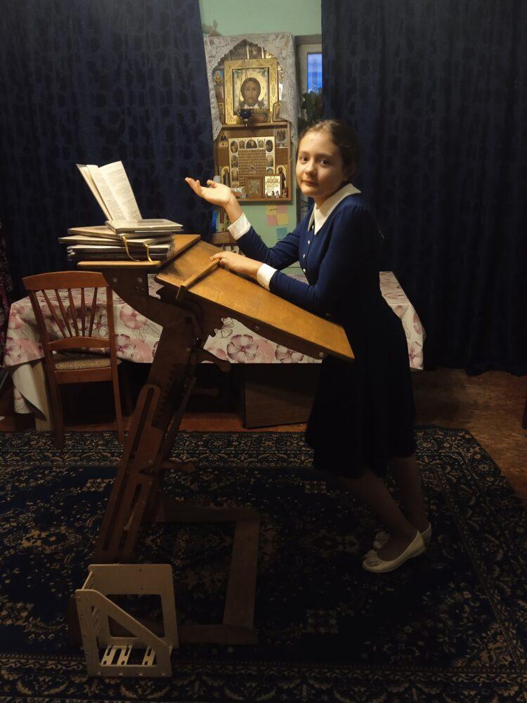 Стол для работы стоя «Эврика» с регулировкой высоты и наклона столешницы, на рост 120-190 см
