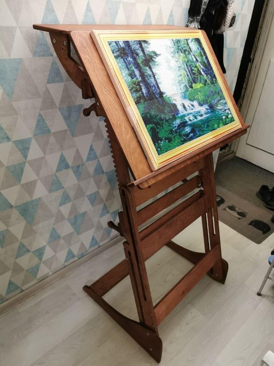 Стол для работы стоя «Эврика» на рост 120-190 см, премиум, светлый орех