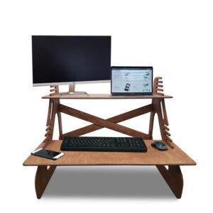 Столик для ноутбука и монитора, светлый орех