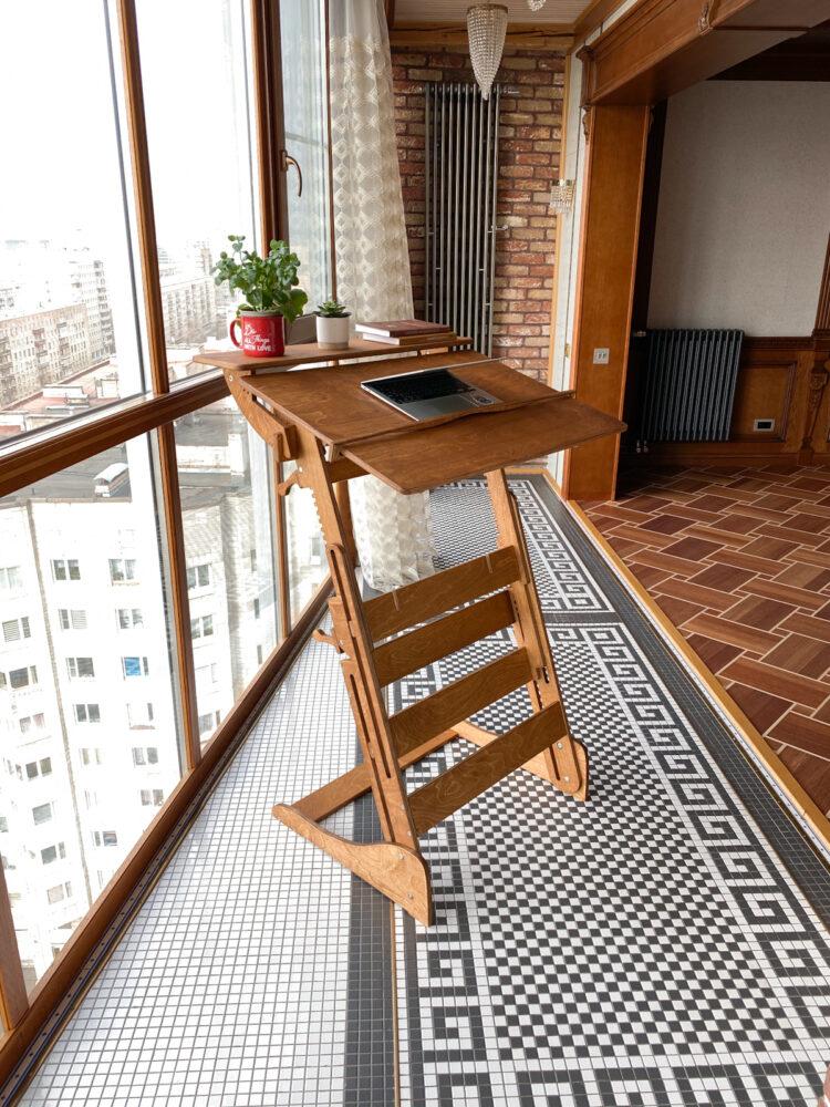 Стол для для реабилитации после перелома позвоночника «Эврика» на рост 120-190 см, премиум, золотой дуб