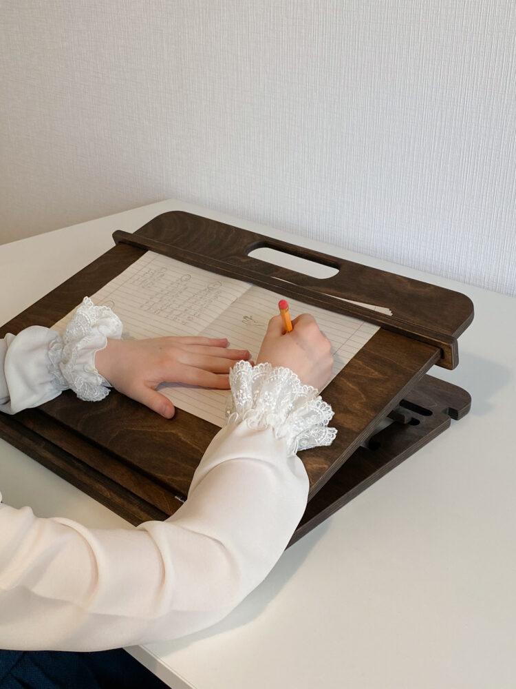 Настольный планшет для каллиграфии и учебы, Темный орех