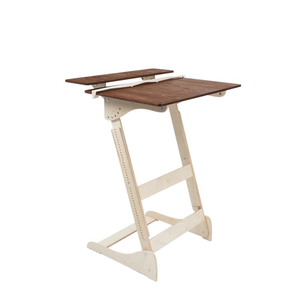 Стол для работы стоя «Добрыня» на рост 150-190 см, столешница светлый орех