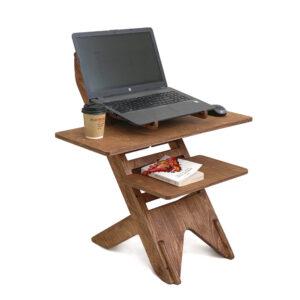 UP DESK - подставка для ноутбука для работы стоя, светлый орех