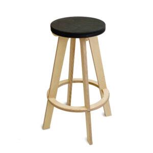 Барный стул табурет, сиденье черный венге