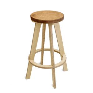 Барный стул табурет, сиденье золотой дуб