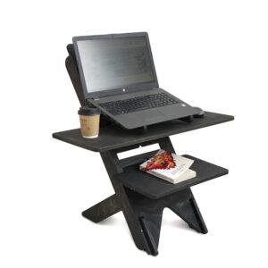 UP DESK - подставка для ноутбука для работы стоя, черный венге
