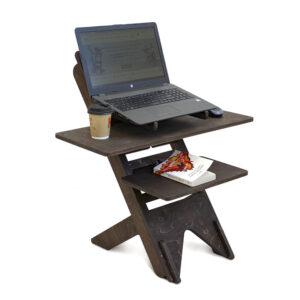 UP DESK - подставка для ноутбука для работы стоя, темный орех