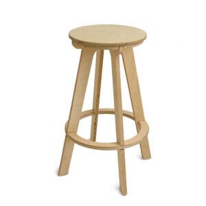 Барный стул табурет, прозрачное масло