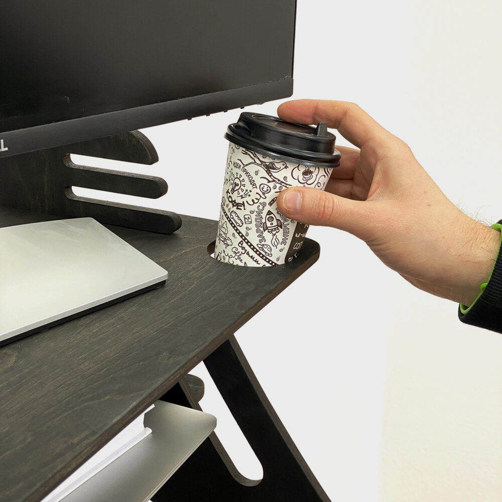 Столик для ноутбука и монитора XXL, черный венге
