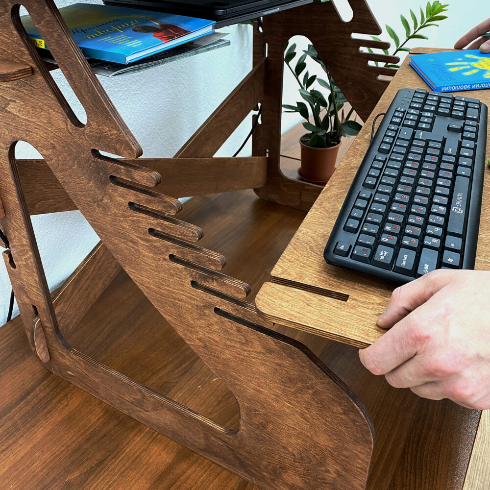 Столик для ноутбука и монитора XXL, светлый орех