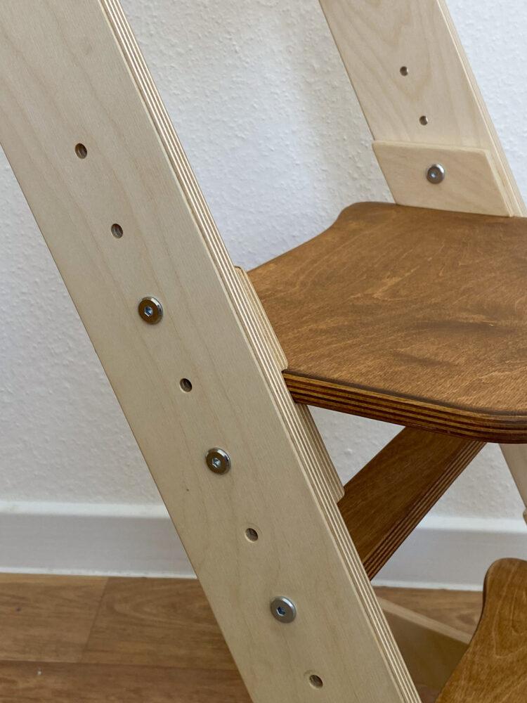 Растущий стул для детей «Компаньон» золотой дуб + прозрачное масло с воском