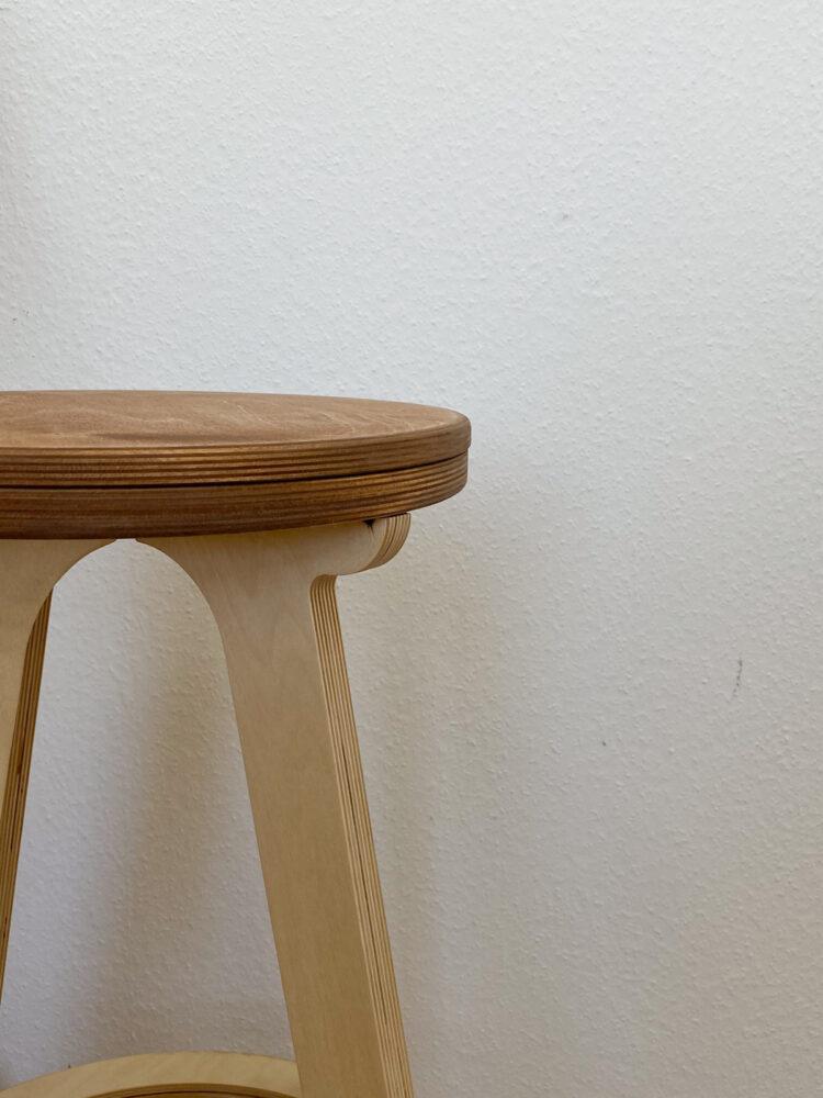 Высокий стул табурет  XL, сиденье золотой дуб
