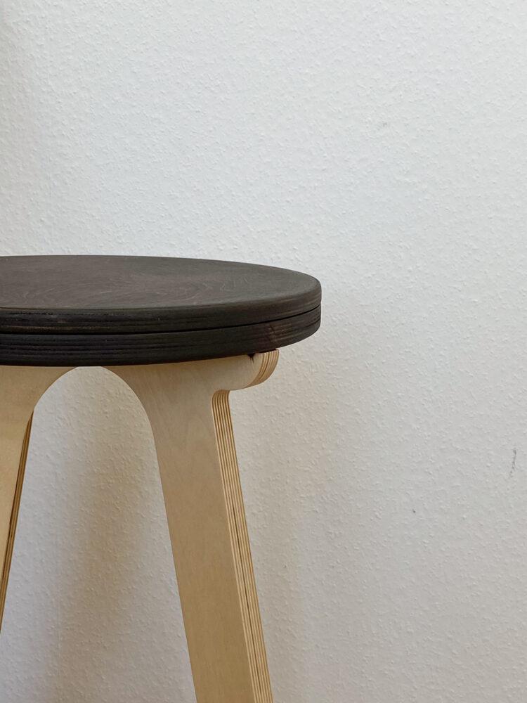 Высокий стул табурет, сиденье темный орех