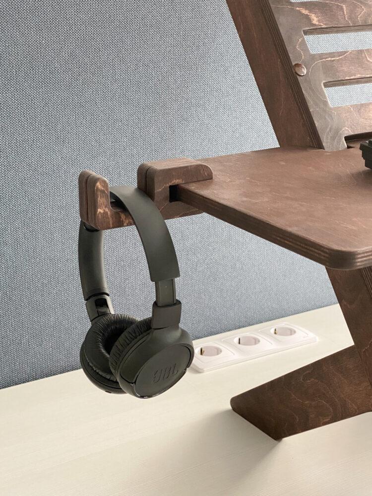 UP DESK — подставка для ноутбука для работы стоя, темный орех