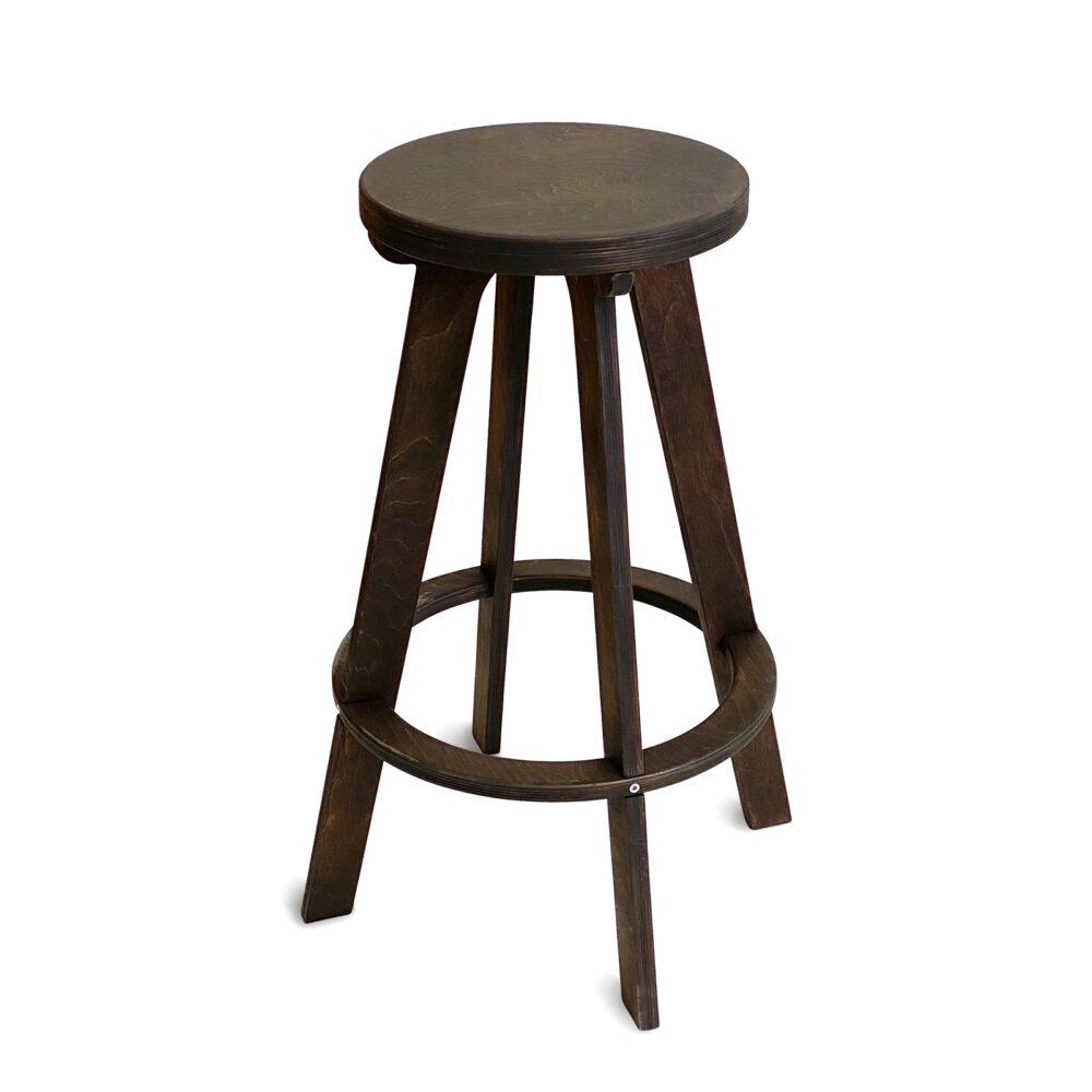 Высокий стул табурет XL, темный орех