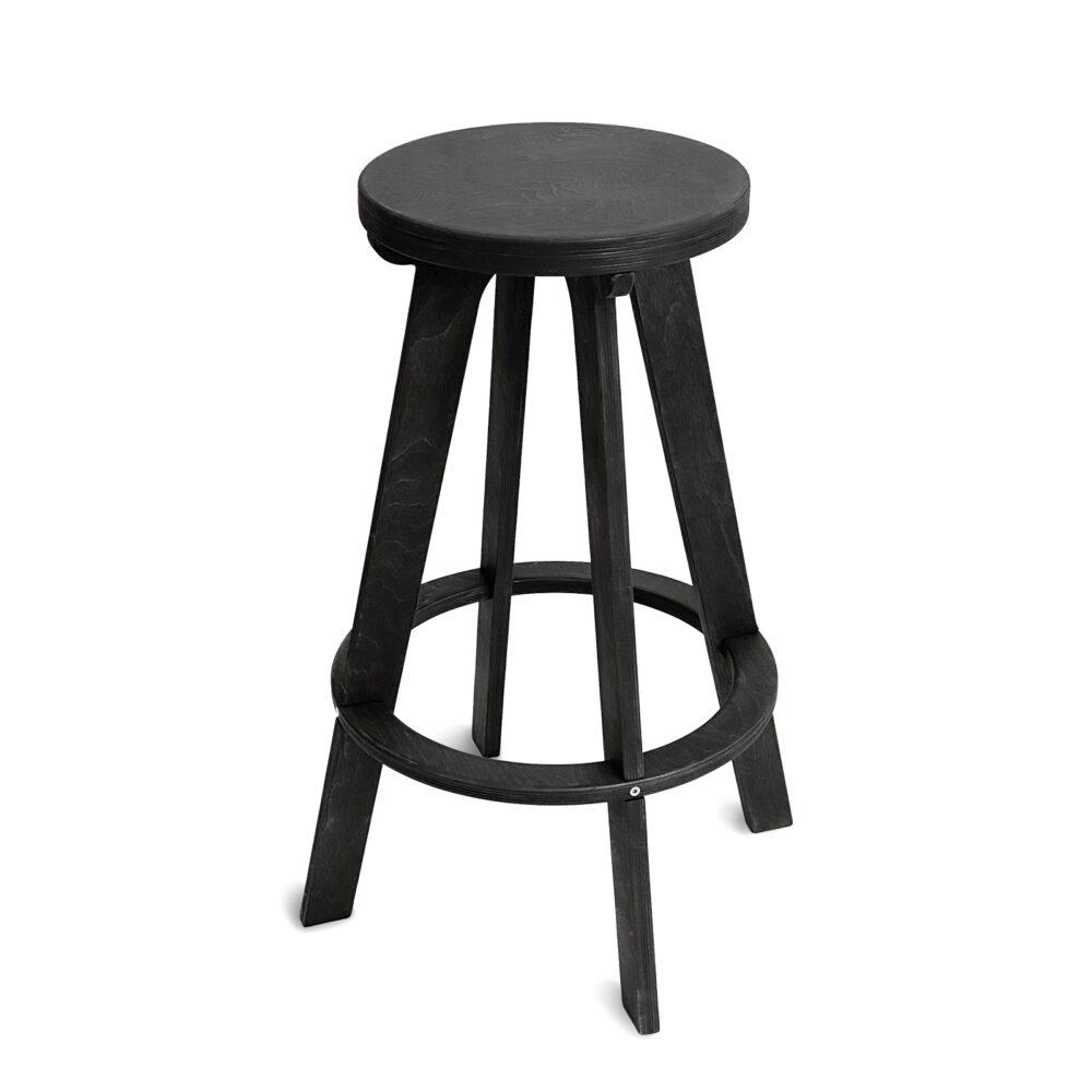 Высокий стул табурет, черный венге
