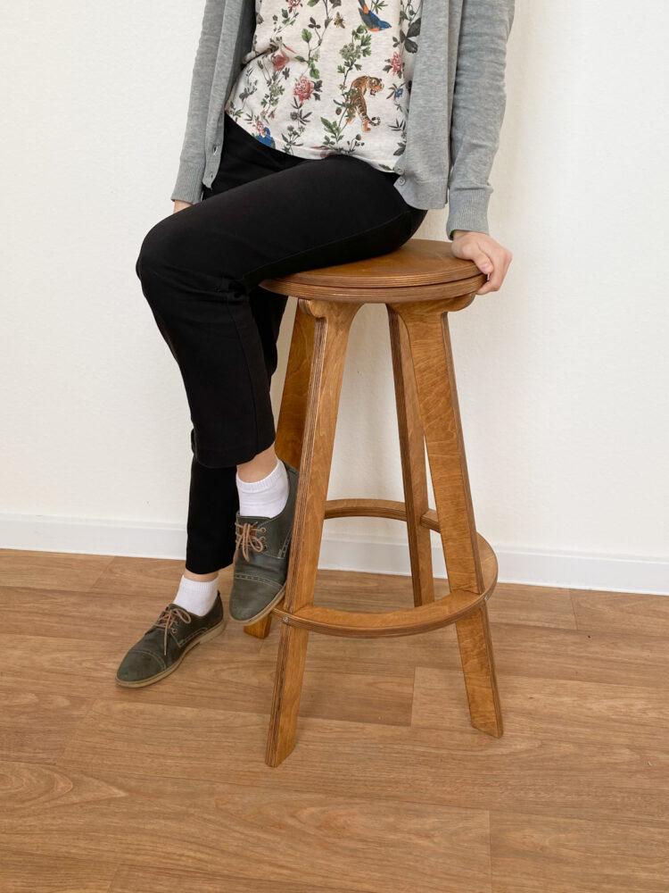 Барный стул табурет XL, золотой дуб