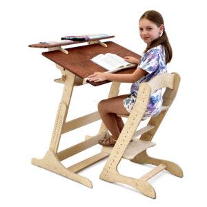 """Школьная парта трансформер """"Хронос"""" для учебы стоя и сидя на рост 100-170 см"""
