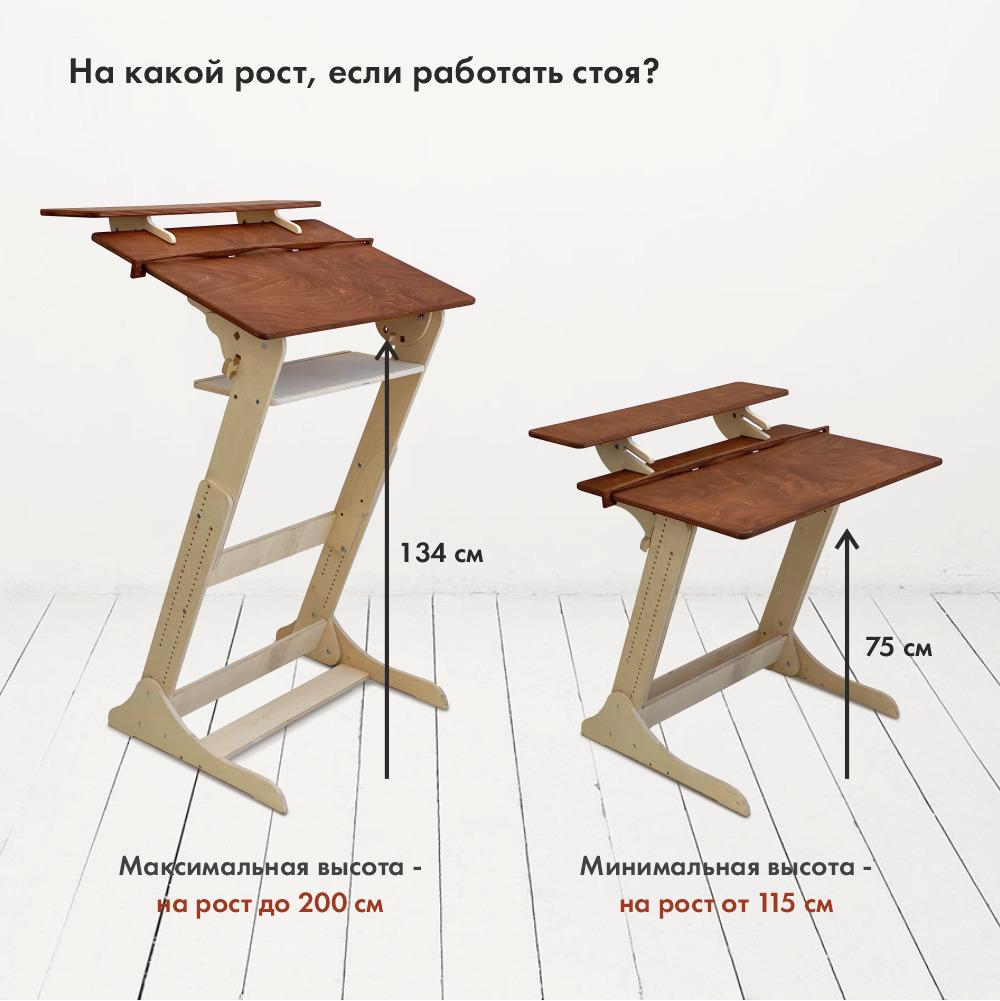 Письменный стол «Хронос XL» для работы стоя и сидя на рост 115-200 см