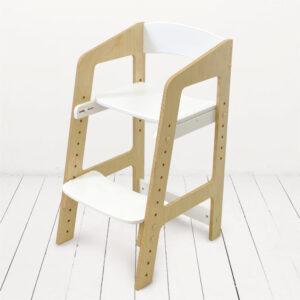 """Растущий стульчик """"Непоседа"""" для детей от 2 до 10 лет, белый акрил + прозрачное масло с воском"""
