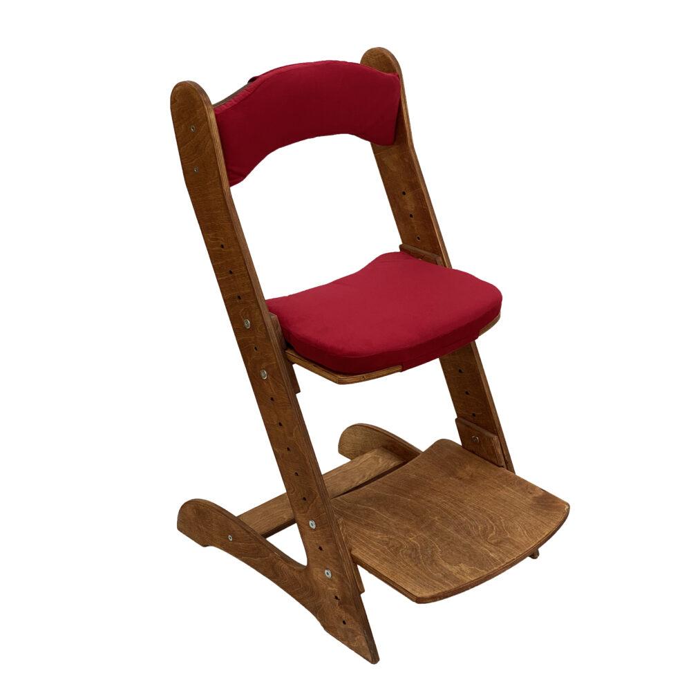 Растущий стул для детей «Компаньон» светлый орех с комплектом подушек Red