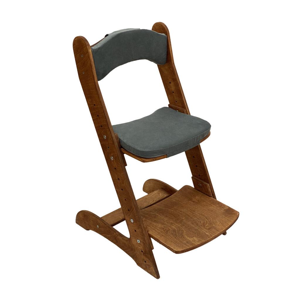 Растущий стул для детей «Компаньон» светлый орех с комплектом подушек Anthracite