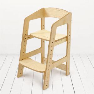 """Растущий стульчик """"Непоседа"""" для детей от 2 до 10 лет, цвет Прозрачное масло"""