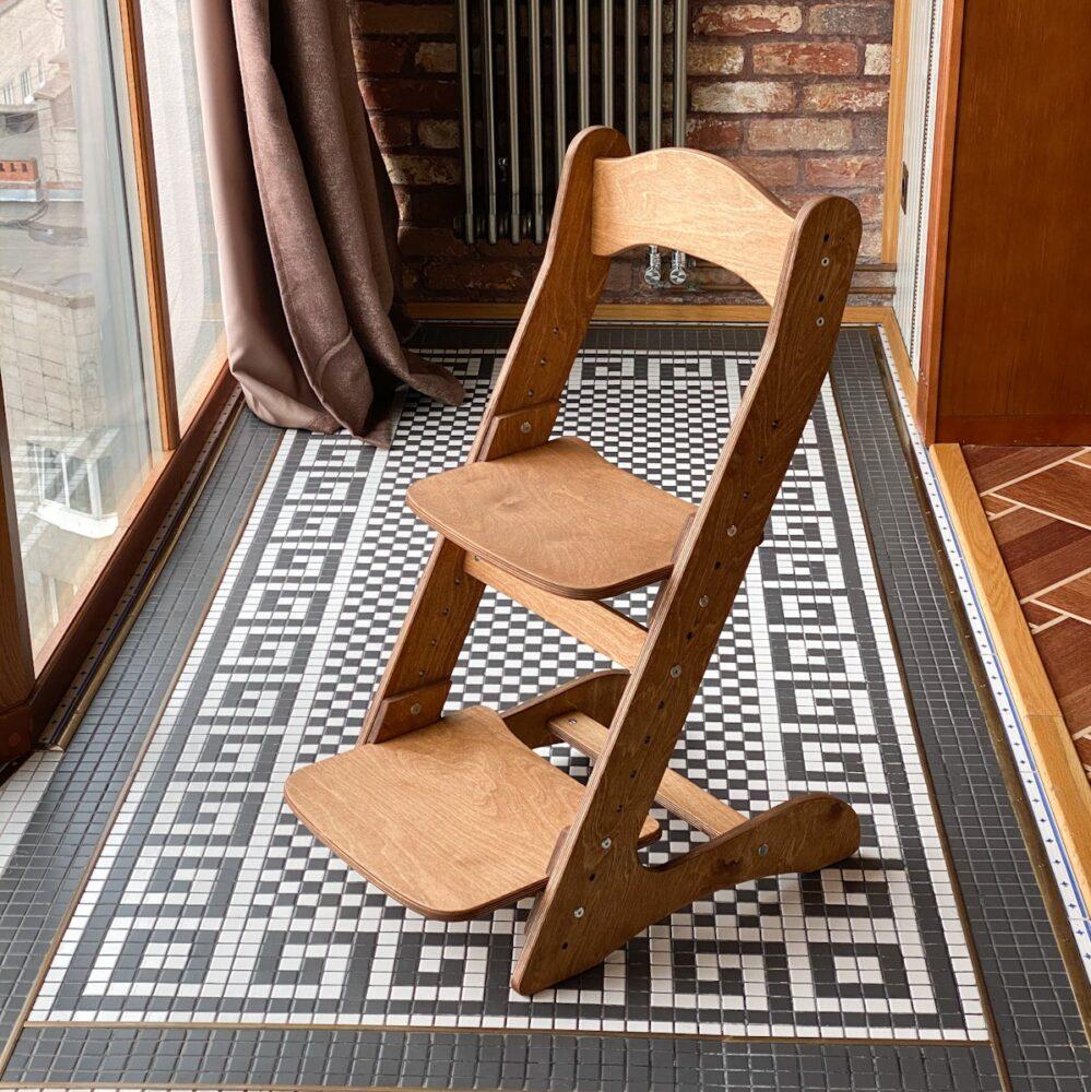 Комплект, парта и растущий стул, цвет золотой дуб